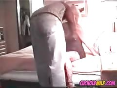 Cuckold MILF meets BBC bull first time Sissy husband watches