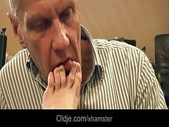 Grandpa has a fetish with Nisha's young fingers and pussy