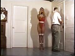 Perverted big-breasted blonde really loves hardcore BDSM