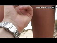 teen nudist masturbation at beach