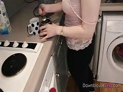 Tea Lesson - Trailer - Busty Brunette flashing her big boobies 4k uhd