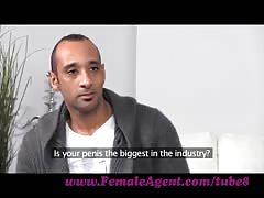 FemaleAgent. Massive cock delivers huge creampie inside MILF