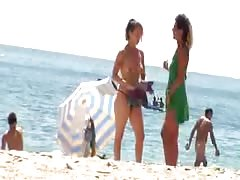 Nudist Beach Perv 5 MILF Stripping