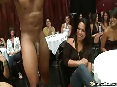 Slutty and drunk babes sucking hard dick of Dancing Bear