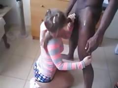 a beautiful teen taken by her boyfriend and black friend